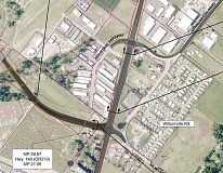 OREGON DEPARTMENT OF TRANSPORTATION - Up in the air – The exact configuration of the Newberg-Dundee bypass at its eastern terminus has been a major concern for neighbors along Wilsonville Road as well as other supporters in Clackamas County. Newberg will soon consider a redesigned intersection where the bypass meets Highway 219.