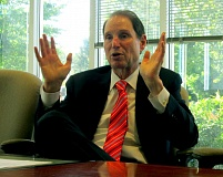 TRIBUNE PHOTO: KEVIN HARDEN - U.S. Sen. Ron Wyden says Oregon businesses will benefit from the thawing of relations between the U.S. and Cuba. Wyden's father, Peter Wyden, wrote a book on the 1961 failed invasion of Cuba at the Bay of Pigs.
