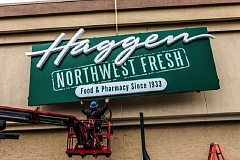 FILE - Haggen expanded rapidly over the past year, purchasing some 146 stores from Albertsons and Safeway throughout the West Coast in order to ease a merger between those two companies. But Albertsons and Haggen are now suing one another over alleged wrongdoings during the deal.