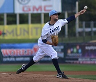 COURTESY: SOUTHERN MARYLAND BLUE CRABS - Brian Burres, former Barlow High and major-league pitcher, is continuing to play well in the independent Atlantic League, as a veteran leader as well for the Southern Maryland Blue Crabs.