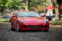 TRIBUNE PHOTO: JONATHAN HOUSE - This 2007 Ferrari 599 will be among the cars featured at the first 'Sit and Snap' event hosted by Dream Drives for Kids on Sunday.