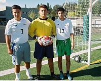 JOHN DENNY - (Left to right) Adrian Bravo, Farit Farias and Edgar Sanchez have high expectations for Rex Putnam soccer this fall, as the Kingsmen reload.