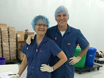 SUBMITTED PHOTO - Tini and Jeff Maier spent the past year in Kumasi, Ghana, helping start a Project Peanut Butter factory to serve malnourished children.