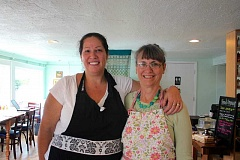 CONNECTION PHOTO: KELSEY O'HALLORAN - Medley owners Kayla Reich and Kathleen Ritchie are glad to be back at work after a plumbing backup caused them to close the shop for five weeks this summer.