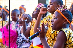 COURTESY PHOTO - Members of the Imani Milele Childrens Choir of Uganda will perform a benefit concert Friday evening at Pacific University in Forest Grove.