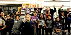 COURTESY OF ASCAP - SCORES students from Portland's Davis Elementary sing on 'Be the Best Me I Can Be,' a song written by Portland native Dave Berg and Tony Esterly. Their song is part of a collection of music released Friday, Sept. 25.