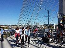 TRIBUNE PHOTO: JENNIFER ANDERSON - The Tilikum Crossing and a perfect fall day brought 28,000 participants to the city's final Sunday Parkways event on Sunday.
