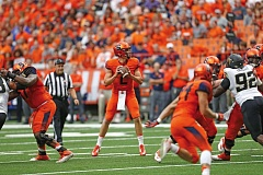 COURTESY: SYRACUSE UNIVERSITY - A concussion sent former Lakeridge High star Eric Dungey on a detour, but the freshman quarterback at Syracuse was off to a fantastic start leading the Orangemen.