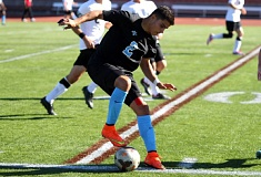 COURTESY: WARNER PACIFIC COLLEGE - Mario Guizar scored for the Knights in their victory Friday at Southern Oregon.