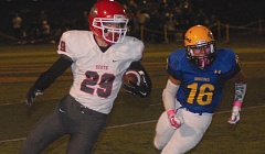 THE OUTLOOK: PARKER LEE - David Douglas running back Collin Patterson gets around the edge during the Scots 27-13 win Friday.
