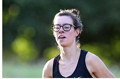 COURTESY: LARRY LAWSON - Amanda Boman, a senior at Portland State, won the Charles Bowles cross country women's race Saturday in Salem.