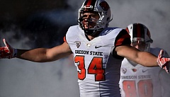 COURTESY: SCOBEL WIGGINS - Oregon State redshirt freshman Ryan Nall, from Central Catholic High, achieved one goal when he scored a touchdown against Stanford. He likes playing running back, even after bulking up for a brief run at tight end and H-back.