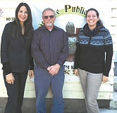 RPA - RPA math teacher and high school counselor, Marti Artsis, the school's new administrator, Dr. Darrel Camp, and science teacher Karen Colvin,
