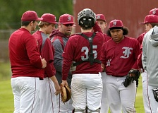 TRIBUNE FILE PHOTO: JONATHAN HOUSE - Franklin High's Adam Shaw talks to his team during a conference on the mound in a 2014 Portland Interscholastic League baseball game.