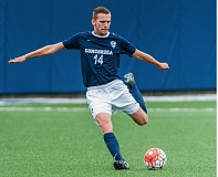 COURTESY: CONCORDIA UNIVERSITY - Matt Paine of the Concordia Cavaliers scored twice on Thursday in a 3-3 draw on the road.