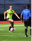 COURTESY: LEWIS & CLARK COLLEGE - Emily Thompson scores three goals for the Lewis & Clark Pioneers in a Northwest Conference victory on Saturday.