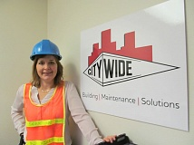 PHOTO BY ELLEN SPITALERI - Jennifer Slansky tours building sites and bids on jobs for local service providers as part of being president of City Wide Portland.