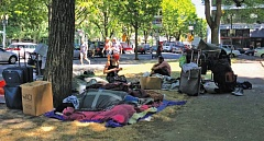 PHOTO COURTESY: NORTH PARK BLOCKS CONSORTIUM - Businesses and residents along the North Park Blocks objected to the number of homeless people living there this summer.