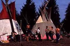 SUBMITTED - The Family had a compound of tepees in another part of the park, removed from the stage and medical center. The Family was the name of the loosely organized group that managed Vortex in cooperation with Oregon State Parks employees.