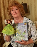 STAFF PHOTOS: VERN UYETAKE  - Lake Oswego author Rosemary Evans shows off the prototype of her new Teeny Tiny Tina dolls, the main character in her award-winning childrens book series. The dolls are currently in production.