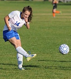 CENTRAL OREGONIAN FILE PHOTO - Crook County defender Abby Curtis was selected to the Tri-Valley League second team.