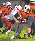FILE PHOTO: JOHN BREWINGTON - Scappoose's Braden Clark (6) and the Indians look to avenge last season's OSAA Class 4A State Championships semifinal overtime loss to Gladstone.