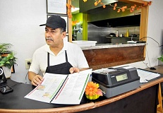 GARY ALLEN - New business owner -- Rudy Gomez has worked at restaurants around Newberg for 20 years, but now he and his sister are operating their own eatery serving breakfast, lunch and Mexican food.