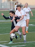 JIM BESEDA/MOLALLA PIONEER - Molalla's Katie Foster (16) was named the Tri-Valley Conference girls' soccer Player of the Year in voting by the league's coaches.