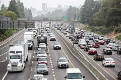 TRIBUNE FILE PHOTO - Traffic on Interstate 5. Portland is leading the state's population growth with nearly 12,000 new people in the last year.