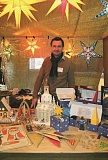 INDEPENDENT FILE PHOTO: LINDSAY KEEFER - The Hazelnut Festival in Mount Angel also features a German Holiday Market, featuring vendors and ornaments that have traveled all the way from Germany, including Wieland Stumpf, pictured here in 2013, and his wares.