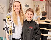 SETH GORDON - Mirroring life - Siblings Mandolin and Liam Burns will appear together as fictional siblings Clara and Fritz in Fired Up Dance Academy's December production of 'The Nutcracker.'