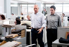 SUBMITTED PHOTO - Digging deep -- An investigation by the Boston Globe's investigative Spotlight news team turns up a pattern of abuse within the Catholic Church in 'Spotlight,' a new film starring Michael Keaton (left), Mark Ruffalo and others.