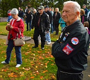 SPOKESMAN PHOTO: JAKE BARTMAN - A ceremony held at the Oregon Korean War Memorial in Wilsonville Nov. 11 paid tribute to veterans.