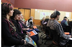 HOLLY M. GILL - Local residents packed into the Madras City Hall to speak on the marijuana issue at a regular meeting of the Madras City Council Oct. 27. Several of those in the audience are contemplating a recall effort for the three councilors who opposed a ban on recreational marijuana sales.