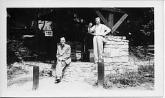 Arthur Red McVey is on the left in this photo from the Lake Oswego Public Library's Worthington Collection.