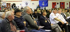 AUTUMN BARBER - Local military veterans made up a large part of the crowd at the annual Veterans Day Program at Molalla River Middle School