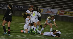 TIMES PHOTO: MATT SINGLEDECKER - The Jesuit girls soccer team won the Metro League and swept through the Class 6A postseason, winning its five games by a combined score of 11-0.