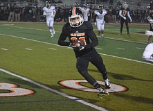 TIMES FILE PHOTO - Beaverton junior wide receiver Mataio Talalemotu and the Beavers will try and pull of a huge upset over Jesuit in the Class 6A quarterfinals on Friday.