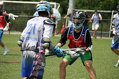 SUBMITTED PHOTO - Miles Moscato is one of the top young lacrosse players in the state despite missing part of his left arm.