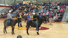 PHOTO COURTESY OF CROOK COUNTY SHERIFF'S OFFICE - Deschutes County Sheriff's Office won the donkey basketball game last year.