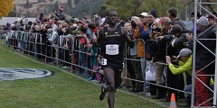 COURTESY; UNIVERSITY OF OREGON - Edward Cheserek, a University of Oregon junior from Newark, N.J., won his third NCAA men's cross country title in a row on Saturday.
