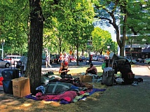 PORTLAND TRIBUNE FILE PHOTO - Neighborhood leaders are trying to figure out how to respond to the City Council's apparent willingness to allow more homeless camps.