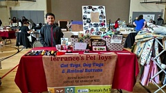 Terrance working at Ardenwald's Holiday Bazaar