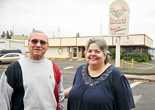 SETH GORDON - Retiring -- Pasquale Piscitelli and daughter-in-law Marie Piscitelli said goodbye to Pasquale's Italian Restaurant last weekend after 30 years of business in downtown Newberg.