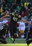 TRIBUNE PHOTO: JAIME VALDEZ - Aidan Schneider, from Grant High, has been nearly a sure thing kicking for Oregon.