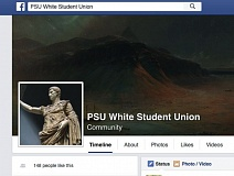 SCREENSHOT OF PSU WHITE STUDENT UNION FACEBOOK PAGE - A PSU White Student Union page popped up Nov. 22. The page is not affiliated with a recognized group at Portland State University.
