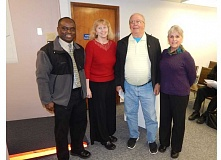BARBARA SHERMAN - King City's newest planning commissioners are (from left) Smart Ocholi, Gretchen Buehner, Will Craig and Carolyn Griffith.