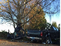COURTESY PHOTO. - A fatal crash at Southwest 331st and Bridges closed both roads for several hours Wednesday afternoon.