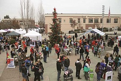 TRIBUNE FILE PHOTO - Hillsboro's Civic Center Plaza is the place to be Saturday afternoon and evening for the annual Holly Days holiday kickoff and tree lighting celebration. Bundle up and head downtown.