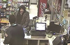 PHOTO COURTESY OF PRINEVILLE POLICE DEPARTMENT - This unidentified man robbed the Chevron station in Prineville early Sunday.